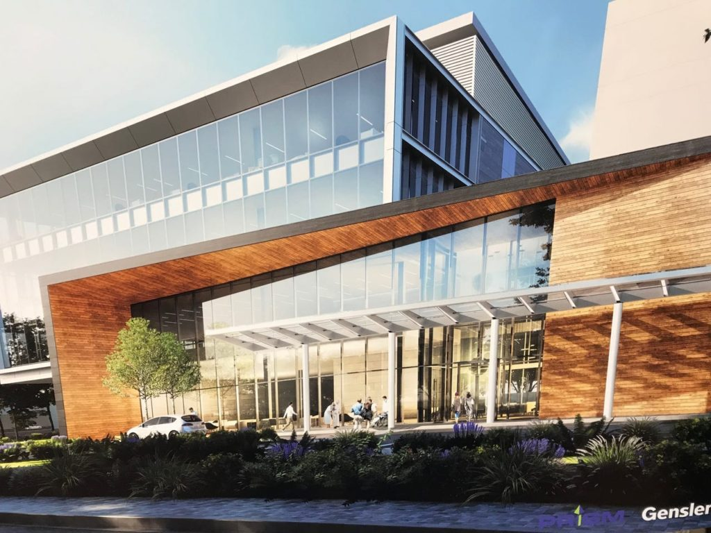 Developers who are re-purposing the former Roche Campus off Route 3, unveiled plans for a new 80,000 square foot medical office building.  Image source: northjersey.com, Photo by Matt Fagan, Oct. 4, 2019.